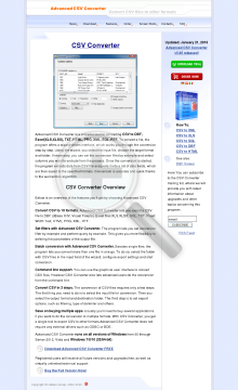 Advanced Csv Converter Business License preview. Click for more details