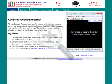 Advanced Webcam Recorder Full Version preview. Click for more details