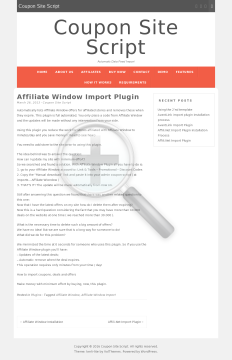 Affiliate Window Plugin Full Version preview. Click for more details