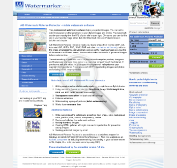 Ais Watermark Pictures Protector Watermarking Tools preview. Click for more details