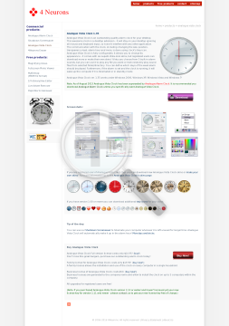Analogue Vista Clock Full Version preview. Click for more details