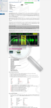 Audio Sound Recorder Net Commercial Edition preview. Click for more details
