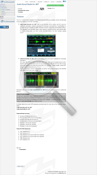 Audio Sound Studio Net Commercial Edition preview. Click for more details
