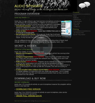 Audio Spyware Full Version preview. Click for more details