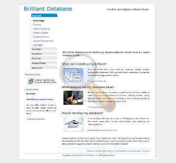 Brilliant Database Professional Home Educational Version preview. Click for more details