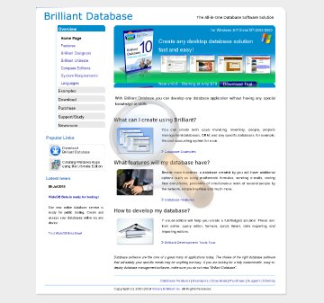Brilliant Database Workplace Full Version preview. Click for more details