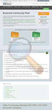 Business Continuity Plan Iso Template English preview. Click for more details