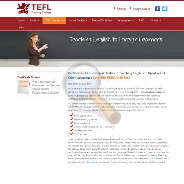 Certificate Tesol Course preview. Click for more details