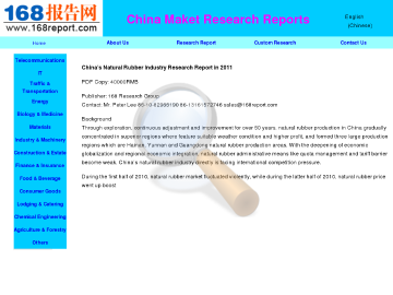 China Natural Rubber Industry Research Report Full Version preview. Click for more details