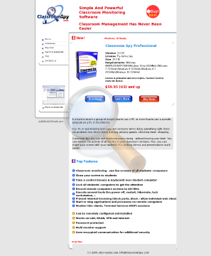 Classroom Spy Professional Educational Site License preview. Click for more details