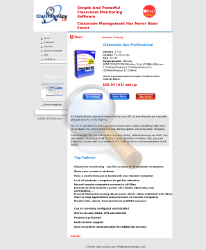 Classroom Spy Professional Site License preview. Click for more details