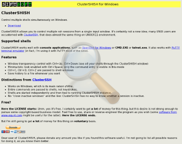 Clustershish Full Version preview. Click for more details