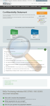 Confidentiality Statement Iso Template English preview. Click for more details