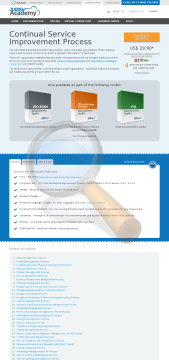 Continual Service Improvement Process Standard Version preview. Click for more details