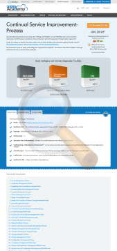 Continual Service Improvement Prozess Standard Version preview. Click for more details