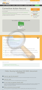 Corrective Action Record Iso Template English preview. Click for more details