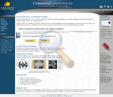Crossword Construction Kit Full Version preview. Click for more details