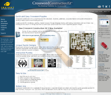 Crossword Construction Kit Portable Full Version preview. Click for more details