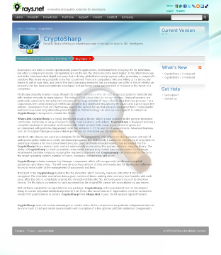 Cryptosharp Security Library Enterprise preview. Click for more details