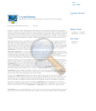Cryptosharp Security Library Single Developer preview. Click for more details