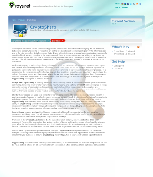 Cryptosharp Security Library Team preview. Click for more details