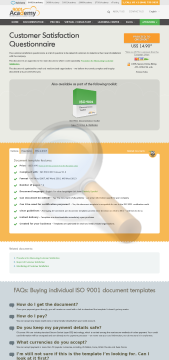 Customer Satisfaction Questionnaire Iso Template English preview. Click for more details