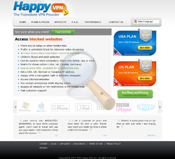 Dedicated Happy Vpn Biannual Usa Plan Discounted preview. Click for more details