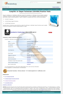 Depot Technician Practice Tests Full Version preview. Click for more details