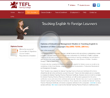 Diploma Ems Tesol Course preview. Click for more details