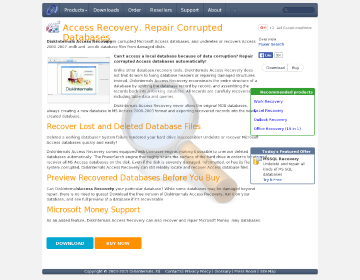 Diskinternals Access Recovery Home License preview. Click for more details