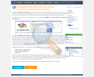 Diskinternals Partition Recovery Service License preview. Click for more details