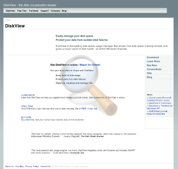 Diskview Personal Edition preview. Click for more details