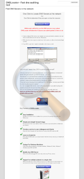 Dnslocator Full Version preview. Click for more details
