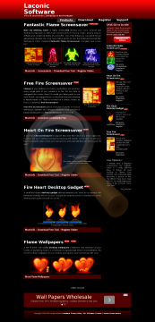 Fantastic Flame Screensaver Full Version preview. Click for more details