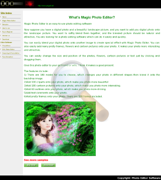 Magic Photo Editor Full Version preview. Click for more details