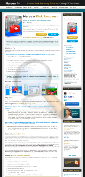 Mareew Disk Recovery Professional License preview. Click for more details