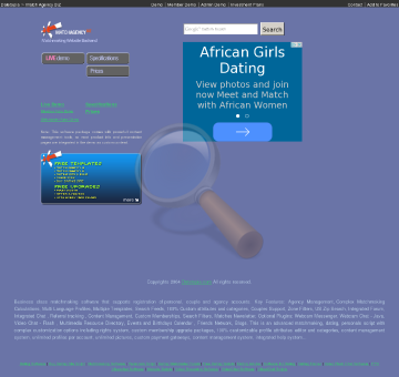 Match Agency Biz Matchmaking Software Online Dating Service Script Monthly Rental Advanced Seo Customer Support Blogs Resources Calendar Friends Plugins Pack preview. Click for more details