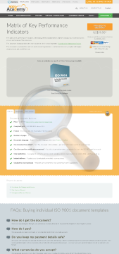 Matrix Key Performance Indicators Iso Template English preview. Click for more details
