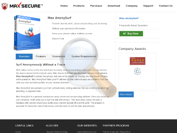Max Anony Surf Great Anonymizer Tool preview. Click for more details