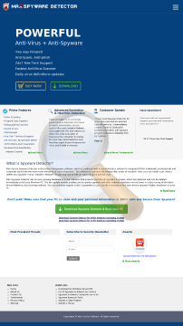 Maxspywaredetector Full Version preview. Click for more details