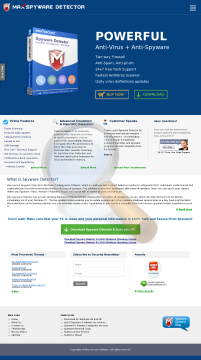 Maxspywaredetector Renewal preview. Click for more details