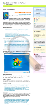 Media Recovery Wizard Professional License preview. Click for more details