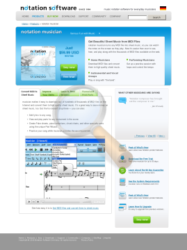 Notation Musician English Full Version preview. Click for more details