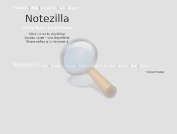 Notezilla Single User License preview. Click for more details