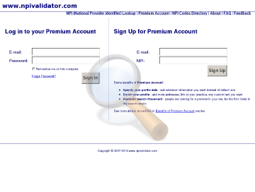 Npi Validator Premium Account preview. Click for more details