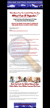 Online Dating Domination Easy Purchase preview. Click for more details