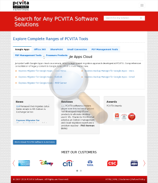 Pcvita Express Migrator Google Apps Lotus Notes Upto Users License preview. Click for more details