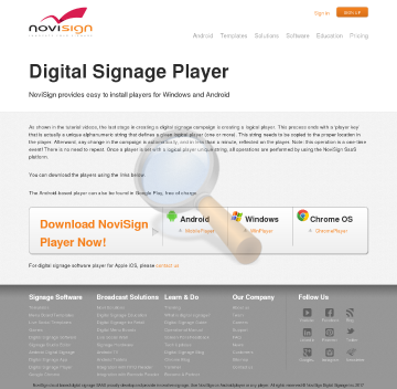 Player Digital Signage License Monthly Payment Activating Players Screen preview. Click for more details