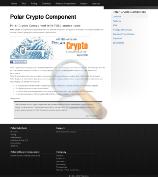 Polar Crypto Component License preview. Click for more details