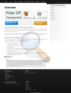 Polar Zip Component License preview. Click for more details